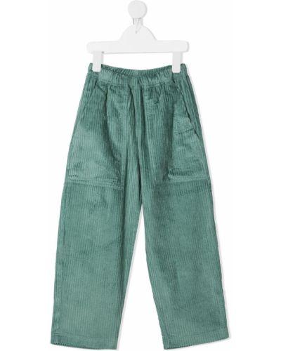 Прямые зеленые брюки с поясом вельветовые Raspberry Plum