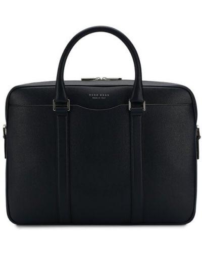 Кожаная сумка для ноутбука текстильная Boss