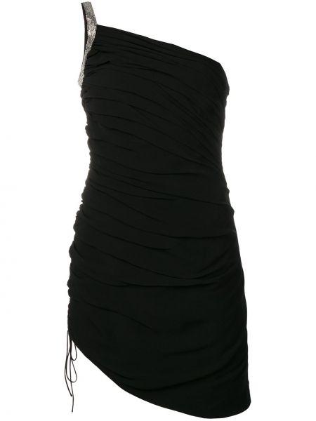 Платье мини на одно плечо на шнуровке Saint Laurent