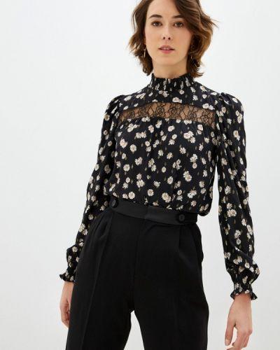 Черная блузка с длинными рукавами Naf Naf