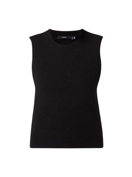 Prążkowana czarna kamizelka Vero Moda