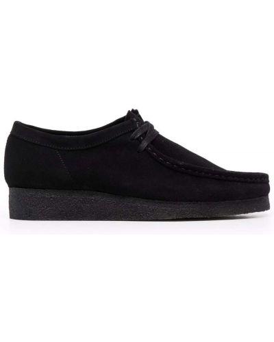 Loafers zamszowe - czarne Clarks Originals