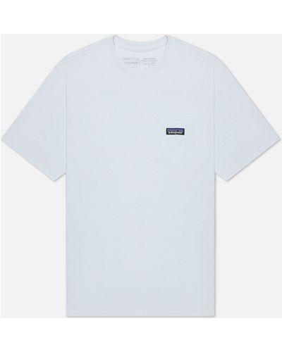 Хлопковая белая футболка с карманами Patagonia