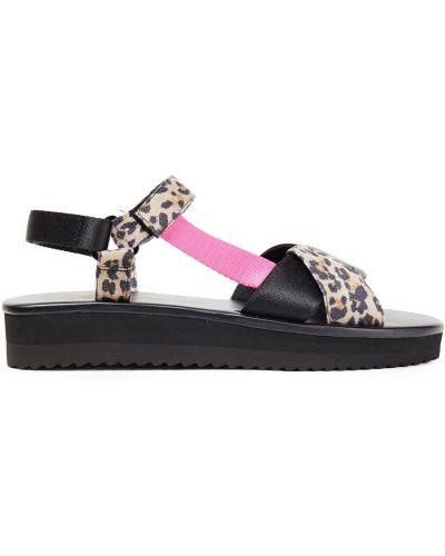 Замшевые черные сандалии на липучках Kate Spade New York