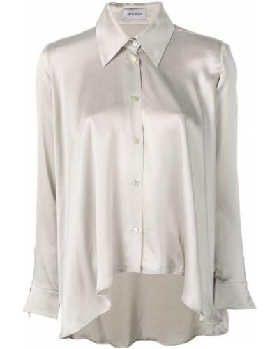 Рубашка с длинным рукавом свободного кроя белая Balossa White Shirt