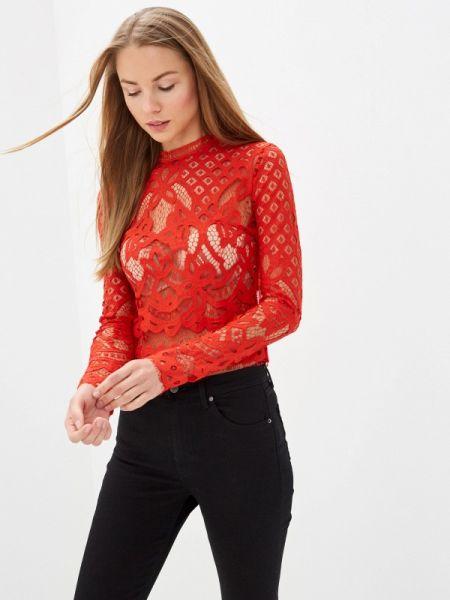 Красная блузка с поясом With&out