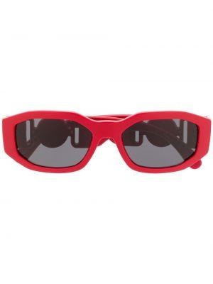 Прямые желтые солнцезащитные очки прямоугольные металлические Versace Eyewear