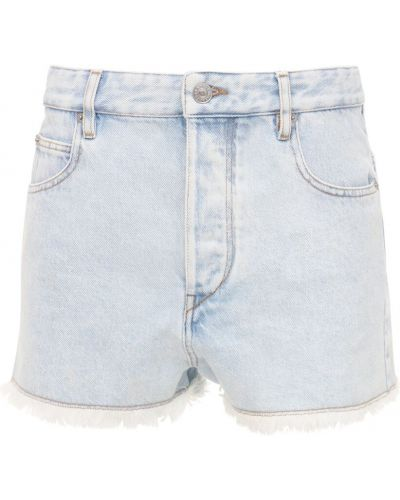 Синие джинсовые шорты с карманами Isabel Marant étoile