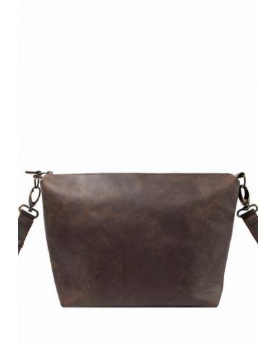 Коричневая кожаный сумка Incarne