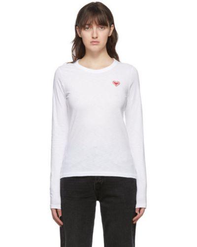 Biały koszula z mankietami z haftem z kołnierzem Rag & Bone