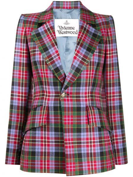 Шерстяной красный классический пиджак с карманами Vivienne Westwood