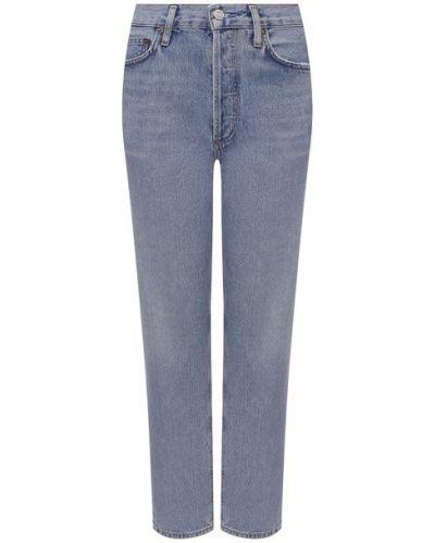 Хлопковые джинсы - голубые Agolde