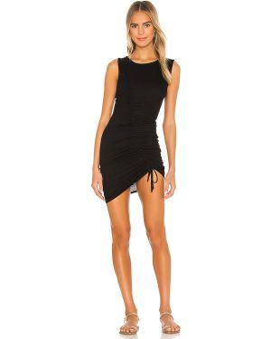 Sukienka czarny z falbankami Lovers + Friends