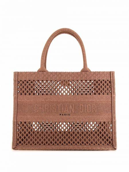 Beżowa torebka z siateczką Christian Dior