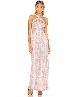 Платье макси из вискозы сатиновое Bcbgmaxazria