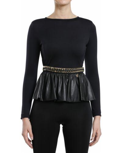 Блузка черная Elisabetta Franchi