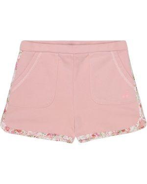 Флисовая розовая юбка-шорты Bonpoint