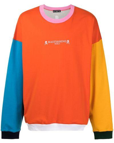 Pomarańczowa bluza długa bawełniana z długimi rękawami Mastermind World