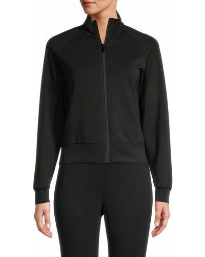 Черная теплая длинная куртка для полных T-tahari