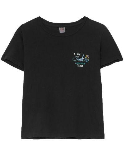 Klasyczny czarny t-shirt bawełniany Re/done