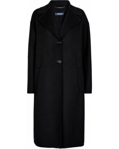 Czarny płaszcz wełniany S Max Mara