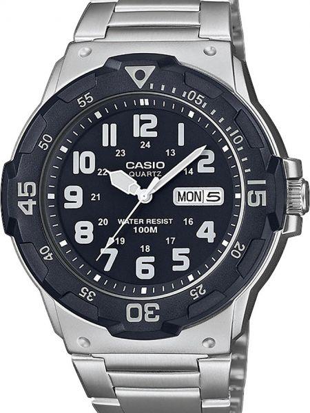 Черные часы водонепроницаемые Casio