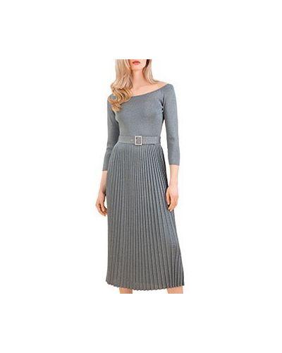 Повседневное платье серое Luisa Spagnoli