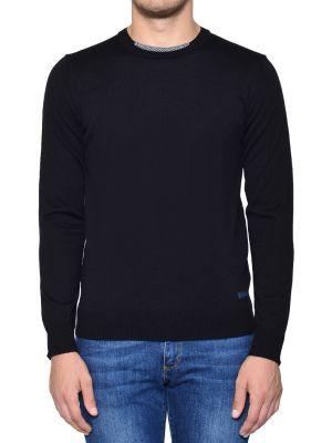 Свитер шерстяной черный Trussardi Jeans