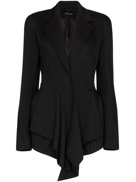 Шерстяной черный пиджак с подкладкой Mugler