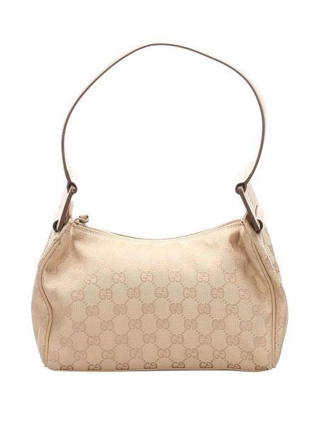 Парусиновая сумка на плечо на молнии Gucci Pre-owned