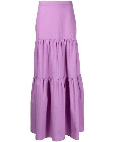 Fioletowa spódnica maxi bez rękawów Pinko