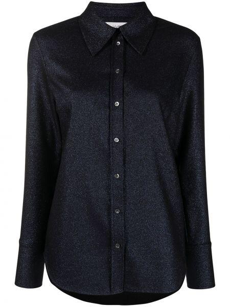 Синяя с рукавами классическая рубашка с воротником Victoria, Victoria Beckham
