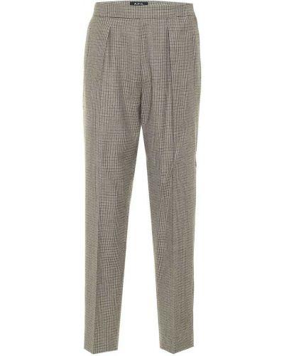 Шерстяные бежевые брюки A.p.c.