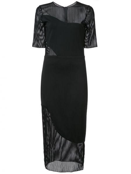 Czarna sukienka z wiskozy Haney