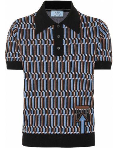 Рубашка без воротника на кнопках Prada