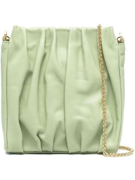 Zielona torebka na łańcuszku skórzana Elleme
