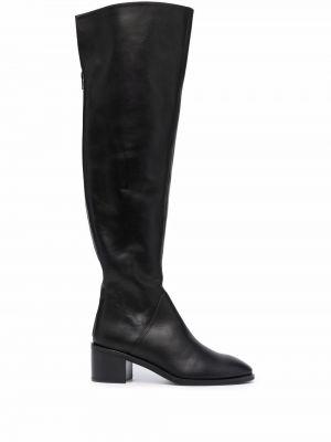 Черные кожаные ботинки Roberto Festa