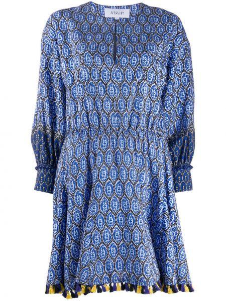 Платье с цветочным принтом с кисточками Derek Lam 10 Crosby