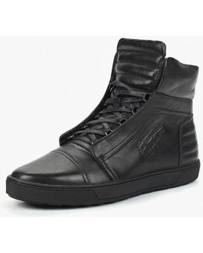 Высокие кеды черные кожаный Dino Ricci Trend