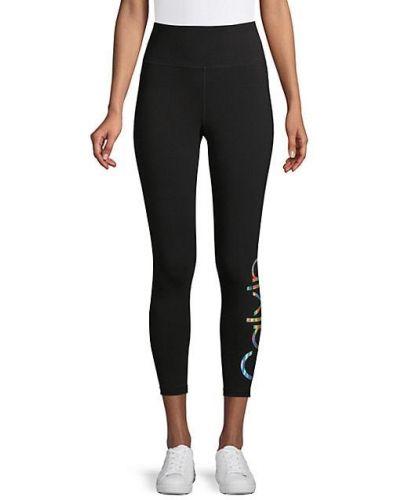Czarne legginsy sportowe bawełniane Calvin Klein