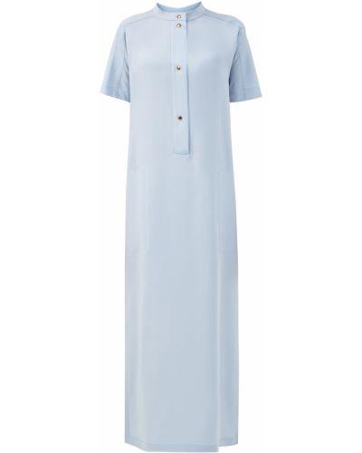 Платье макси оверсайз на кнопках с карманами с разрезом Agnona