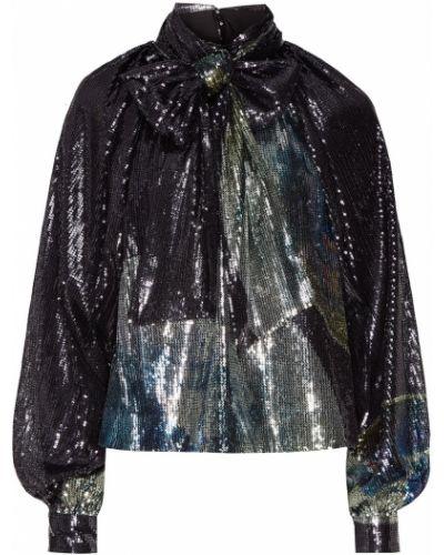 Блузка с пайетками с пышными рукавами Ganni