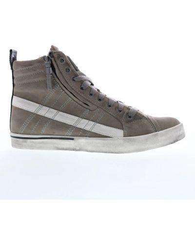 Кожаные кроссовки - серые Diesel
