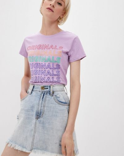 Фиолетовая с рукавами футболка Lee Cooper