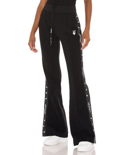 Bawełna bawełna czarny majtki szorty w połowie kolana Off-white
