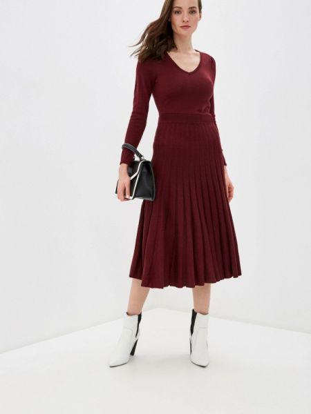 Платье бордовый осеннее Naf Naf