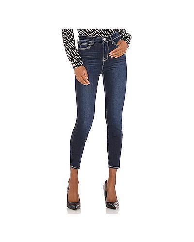 Хлопковые синие джинсы-скинни на молнии скинни L'agence