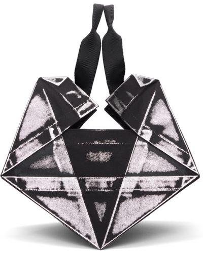 Czarna torebka srebrna 132 5. Issey Miyake