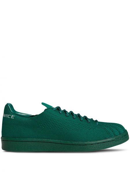 Zielony koronkowa top z haftem Adidas