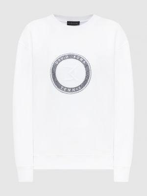 Белый свитшот с вышивкой David Koma